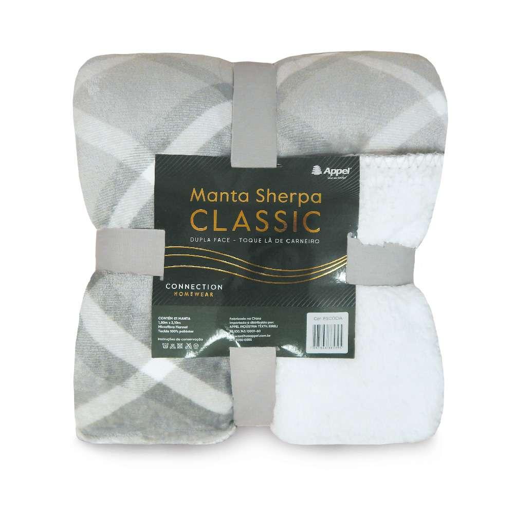 Manta Sherpa Classic Queen 2,10x2,30 - Toalhas Appel - Escocia