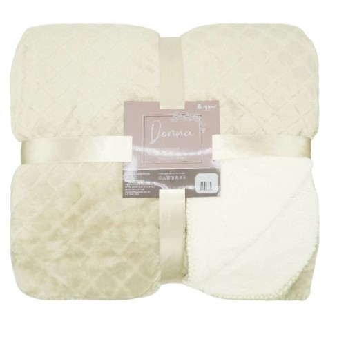 Manta Sherpa Dupla Face Queen Donna 2,10x2,30 - Toalhas Appel - Dove