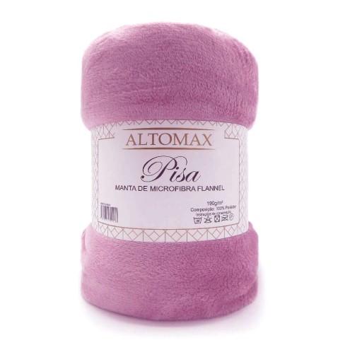 Manta de Microfibra Flannel Queen Pisa - Altomax - Rosa