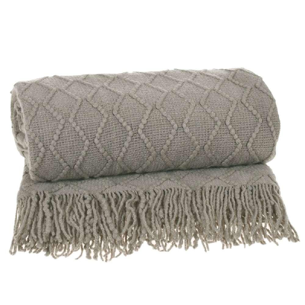 Manta para sofá Tricot 1,27x1,52 - Tessi - Caqui