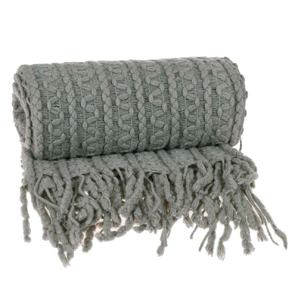 Manta para sofá Tricot 1,27x1,52 - Tessi - Granito