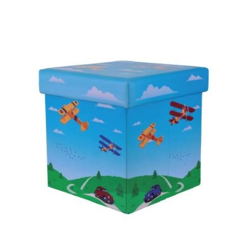 Mini Puff Desmontável Box - PanoSul - Aviões