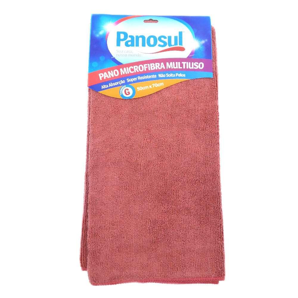 Pano de Limpeza Mega Absorção 0,50m x 0,70m - Panosul - Rosa
