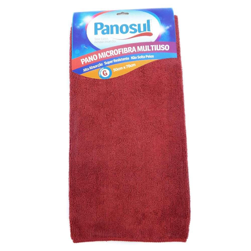 Pano de Limpeza Mega Absorção 0,50m x 0,70m - Panosul - Vermelho