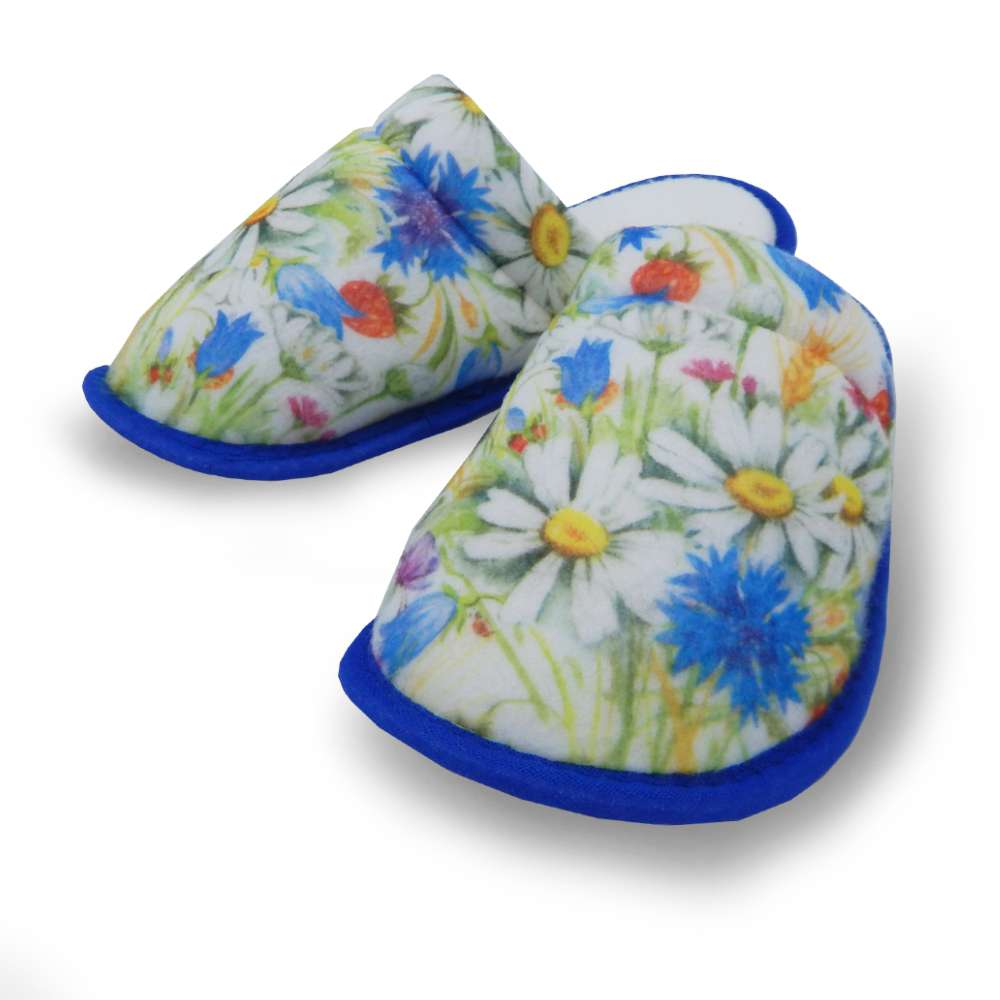 Pantufa de Malha Estampada - Appel - Floral/azul