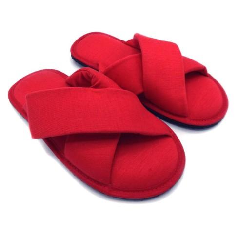 Pantufa estilo Chinelo com tiras - Appel - Vermelho