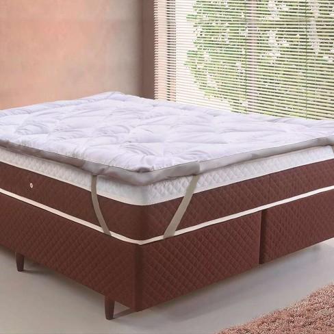 Pillow Top Toque de Plumas Solteiro 88x1,88 - Tessi - Branco