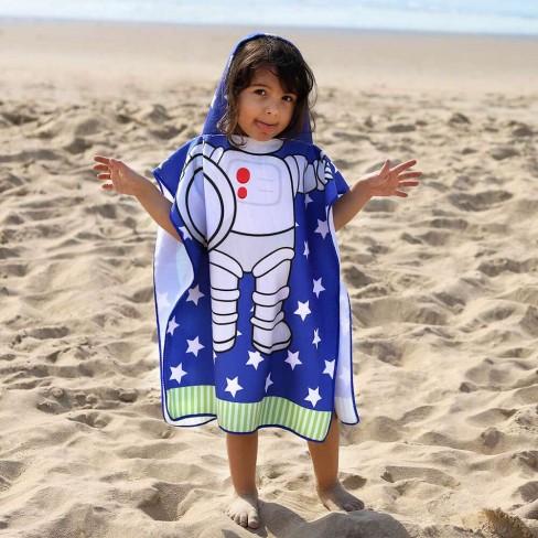 Poncho de Praia com Capuz Infantil 50x115 - Toalhas Appel - Astronauta