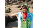 Poncho de Praia com Capuz Infantil 50x115 - Toalhas Appel - Jacaré