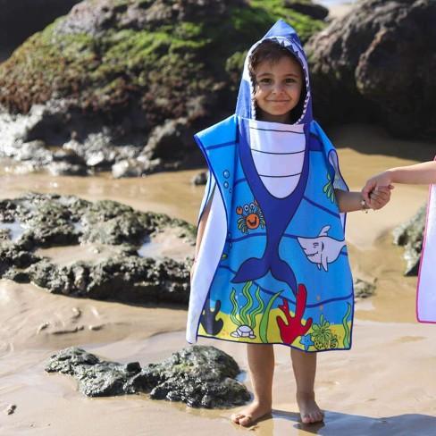 Poncho de Praia com Capuz Infantil 50x115 - Toalhas Appel - Tubarão