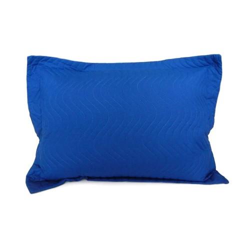 Porta Travesseiro Avulso Matelassê 80x60 - Appel - Azul