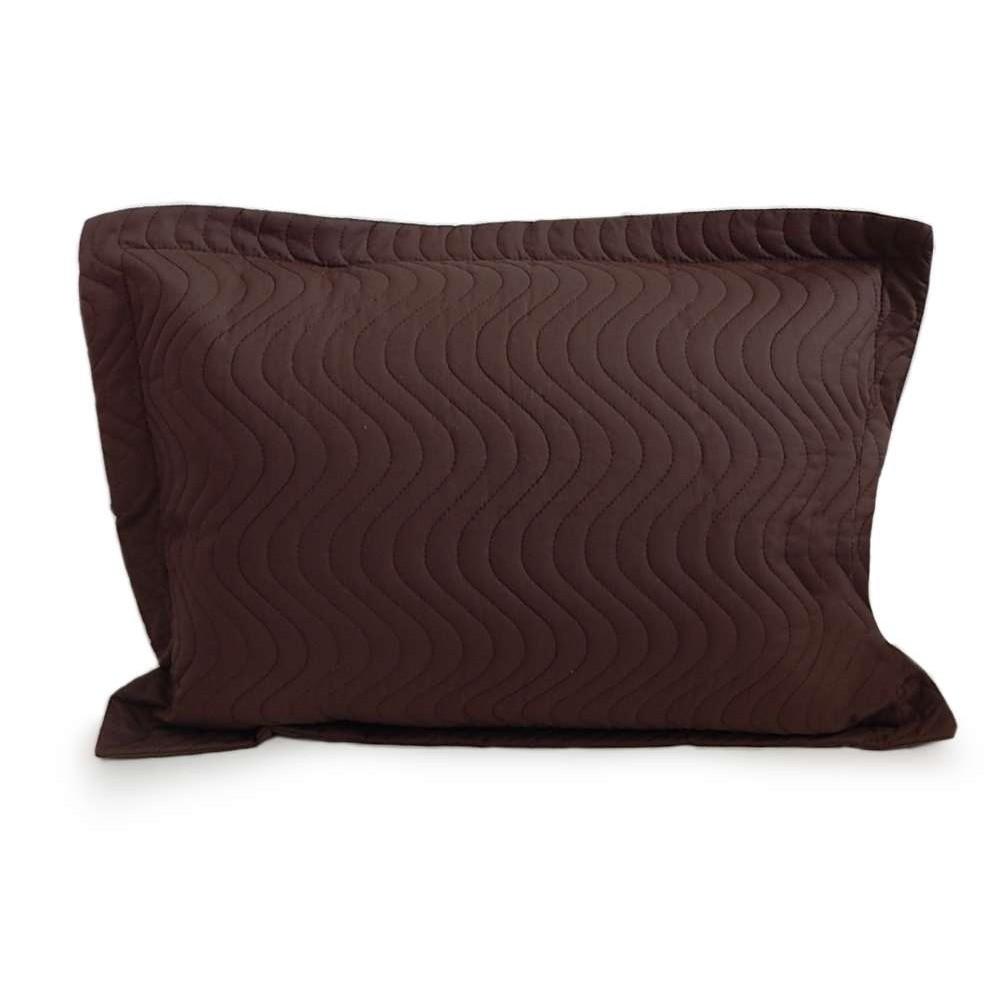 Porta Travesseiro Avulso Matelassê 80x60 - Appel - Marrom