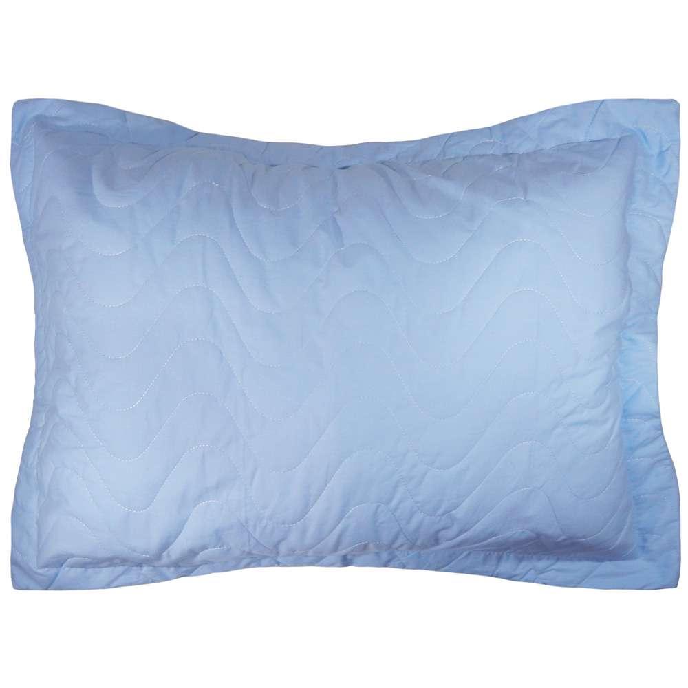 Porta Travesseiro Percal 300 Fios - Appel Home - Azul