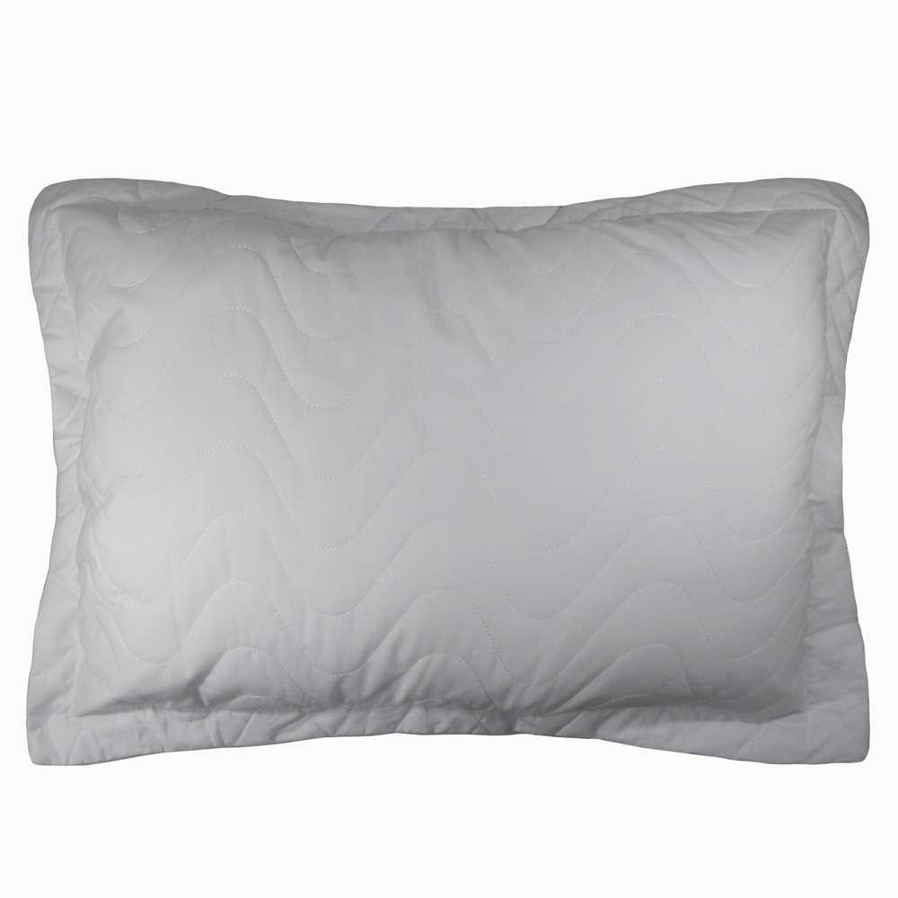 Porta Travesseiro Percal 300 Fios - Appel Home - Cinza