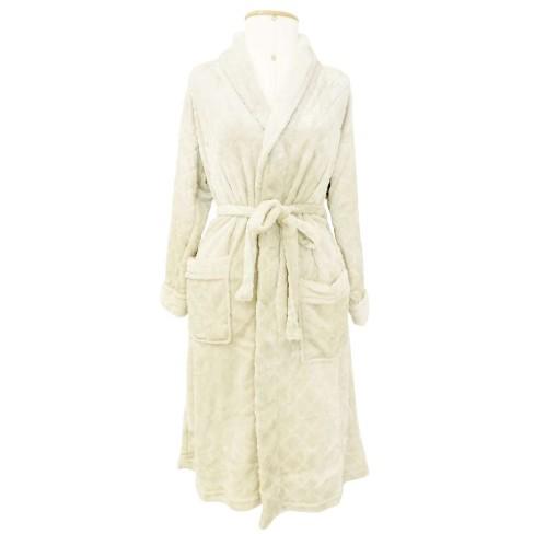 Roupão Adulto Microfibra Flannel Feminino Donna - Toalhas Appel - Dove