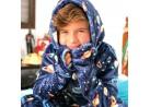 Roupão Flannel com Capuz Kids Infantil - Toalhas Appel - Galaxi
