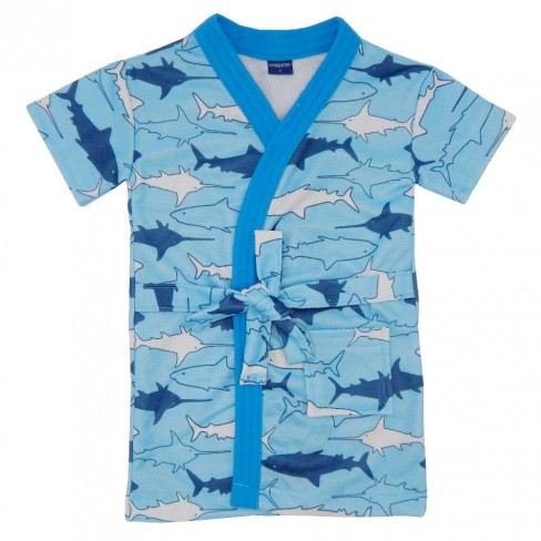 Roupão Infantil Atoalhado Appel - Tubarão