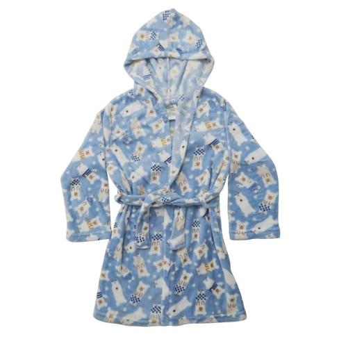 Roupão Infantil Microfibra com Capuz - Bene Casa - Urso azul