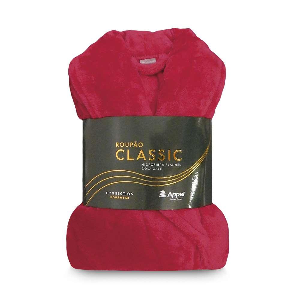 Roupão Adulto Microfibra Flannel Classic - Toalhas Appel - Vermelho