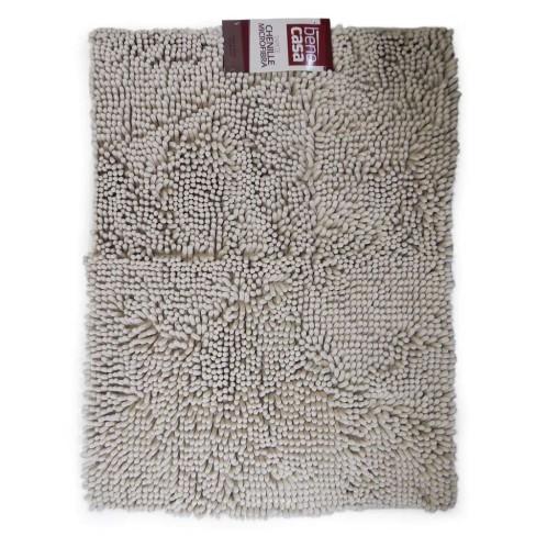 Tapete Microfibra Chenille 0,50m x 0,70m - Bene Casa - Camurça