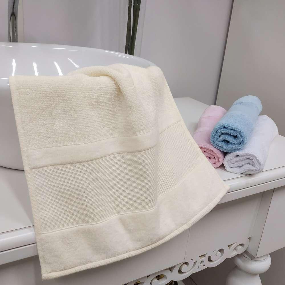 Toalha de Lavabo Para Bordar Decor 32x45 - Toalhas Appel - Perola