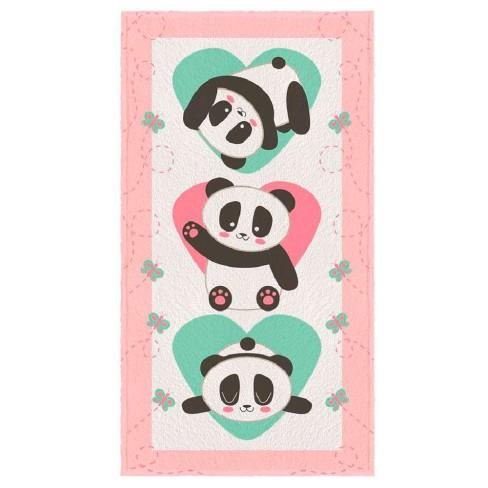 Toalha de Banho Felpuda Personagem - Lepper - Panda