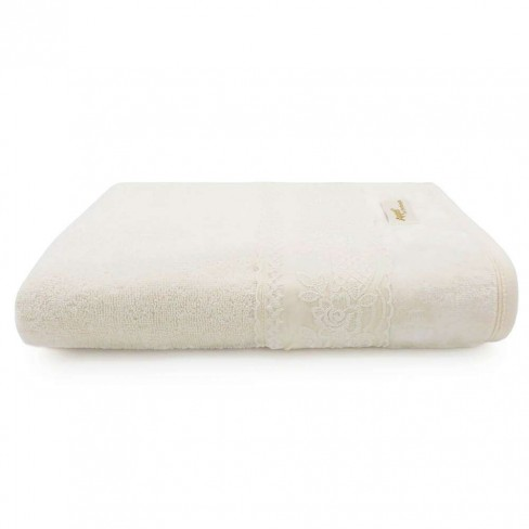 Toalha de Banho Fio Penteado Splendore Rendada 68x1,40 - Toalhas Appel - Perola