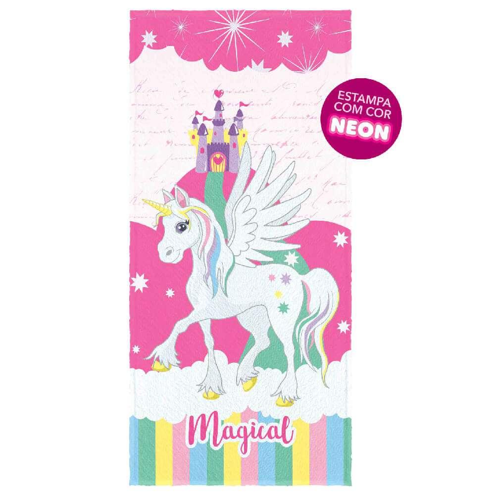 Toalha de Banho Kids Felpuda - Lepper - Unicornio