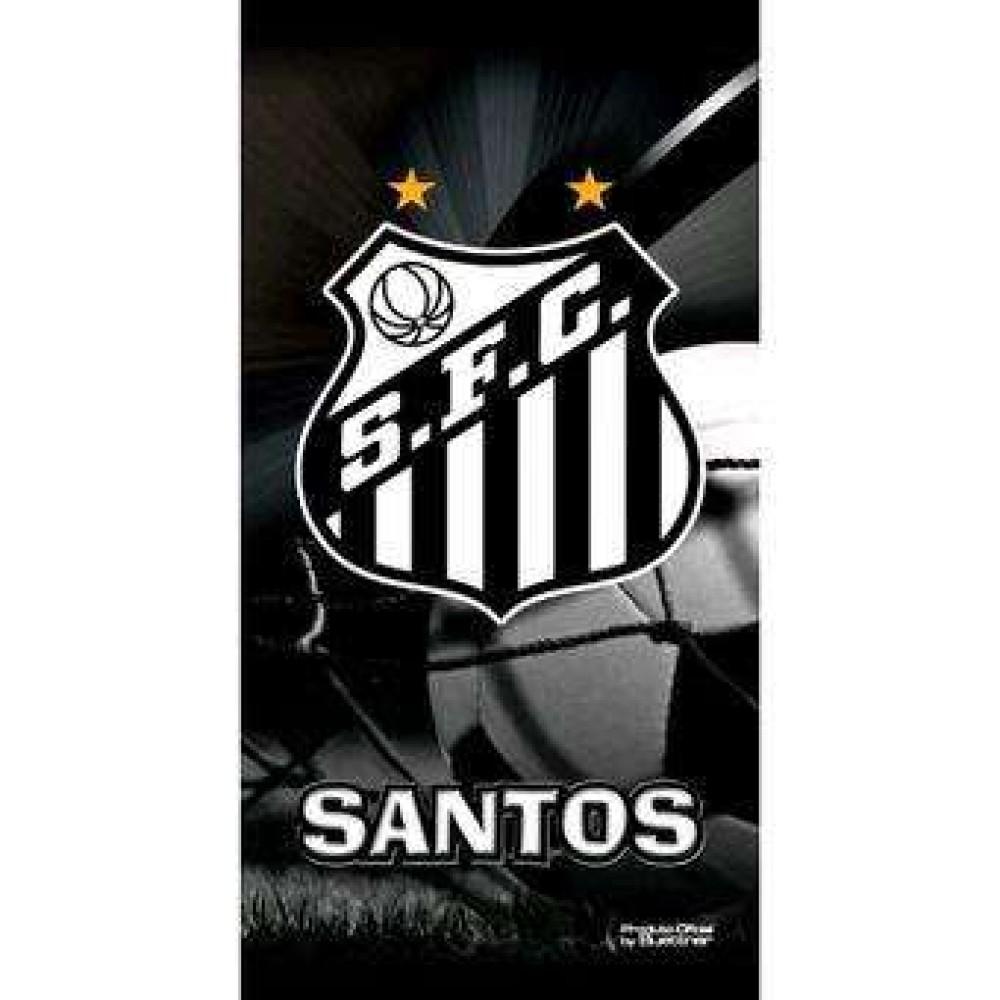 Toalha de Banho Time de Futebol Veludo - Buettner - Santos