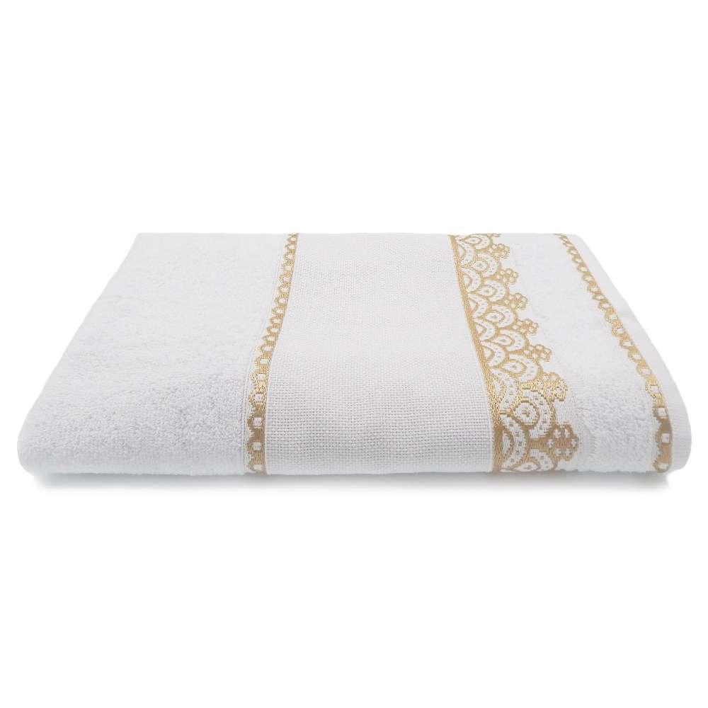 Toalha de Banho Para Bordar Ateliê 68x1,35 - Toalhas Appel - Branca