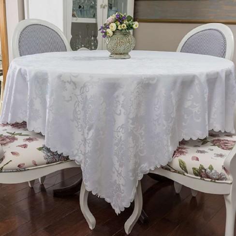Toalha de Mesa Jacquard 1,70m x 2,70m - Argivai - Jade branco