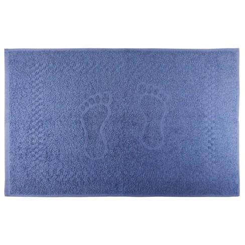 Toalha de Piso Pezinho 45x68 - Toalhas Appel - Azul infinity