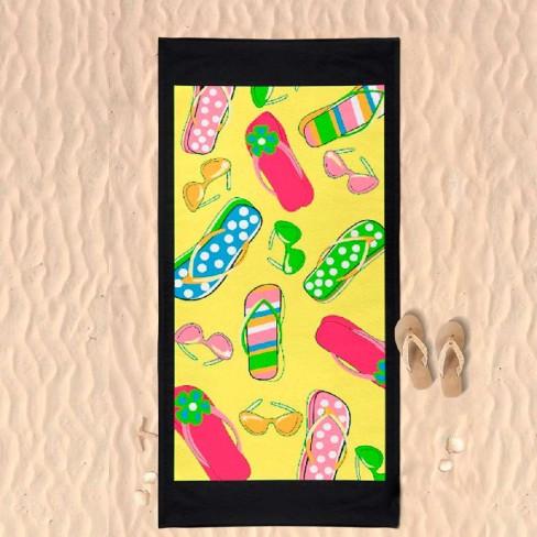 Toalha de Praia Microfibra - Panosul - Amarelo