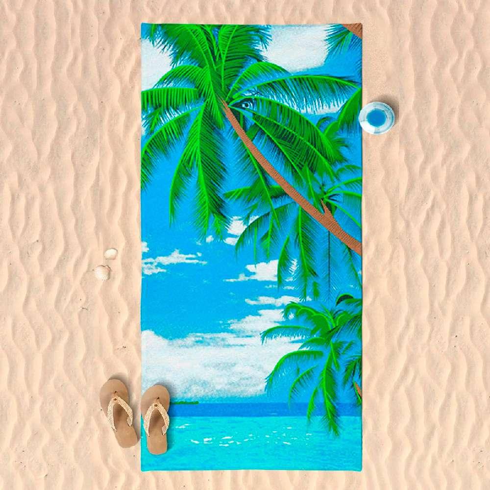 Toalha de Praia Microfibra - Panosul - Coqueiro