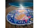Toalha de Praia Redonda Com Franja - Panosul - Sortido