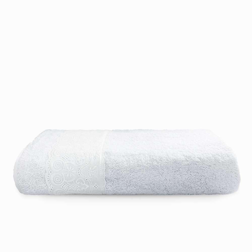 Toalha de Rosto Fio Penteado Nobless Rendada - Toalhas Appel - Branco