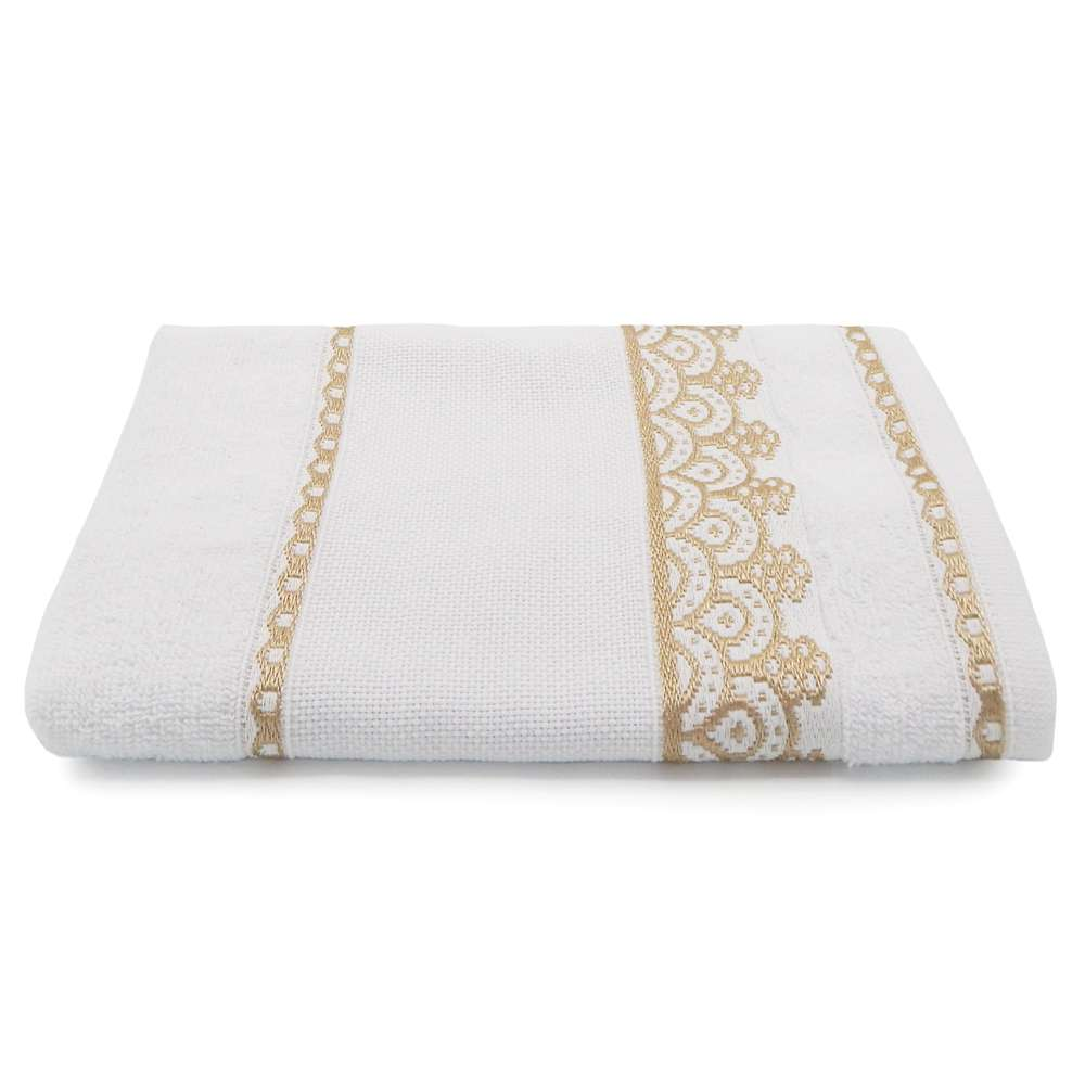 Toalha de Rosto para Bordar Ateliê 50x75 - Toalhas Appel - Branca