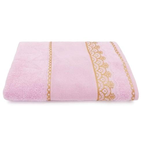 Toalha de Rosto para Bordar Ateliê 50x75 - Toalhas Appel - Rosa cintilante
