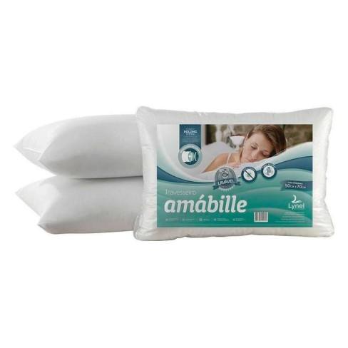 Travesseiro Amábile Malha Gel - Lynel - Branco