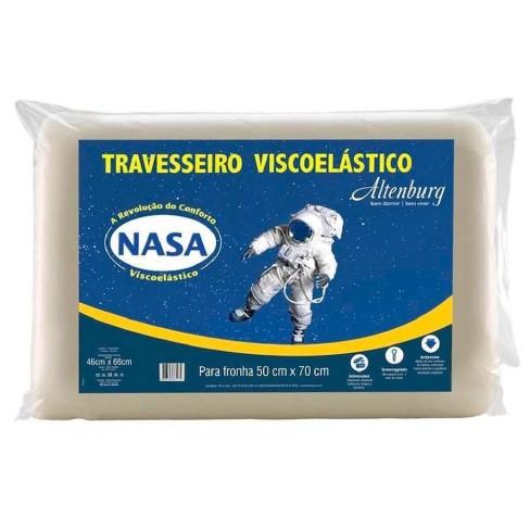 Travesseiro Viscoelástico Nasa 45x66 - Altenburg - Branco